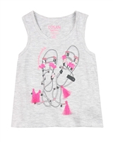 Losan Girls Tank Top with Back Opening