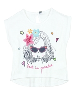Losan Girls T-shirt with Badges