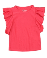 Losan Girls Top with Flounce Sleeves