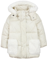 Losan Girls Coat with Faux Fur Pockets