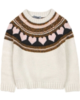 Losan Girls Intarsia Knit Sweater