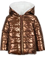 Losan Girls Reversible Quilted Coat with Faux Fur