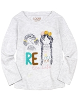 Losan Girls T-shirt with Girls Print and Applique