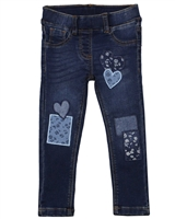 Losan Girls Denim Leggings with Patches