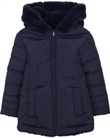 Losan Girls Reversible Faux Fur Coat with Hood