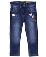 Losan Girls Slim Fit Denim Pants with Applique