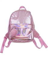 Losan Girls Shiny Metallic Mini Backpack