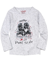 Losan Girls Speckled T-shirt with Print