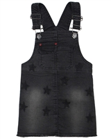 Losan Girls Denim Suspenders Dress in Stars Print