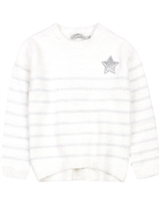 Losan Girls Shiny Stripes Shag Sweater