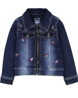 Losan Girls Denim Jacket with Sequinned Watermelons