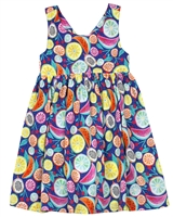 Losan Girls Sundress in Fruits Print