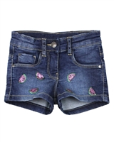 Losan Girls Jogg Jean Shorts with Sequin Watermelons