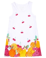 Losan Girls Beach Dress with Fruits Print