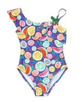 Losan Girls One-shoulder Swimsuit