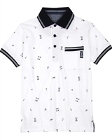 Losan Junior Boys Printed Polo