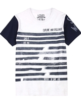 Losan Junior Boys T-shirt with Striped Front