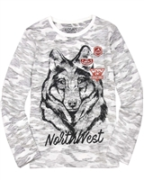 Losan Junior Boys T-shirt with Wolf Print