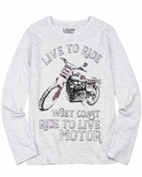 Losan Junior Boys T-shirt with Motorcycle Print