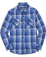 Losan Junior Boys Herringbone Plaid Shirt
