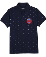 Losan Junior Boys Printed Jersey Polo