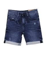 Losan Junior Boys Jogg Jean Bermuda Shorts in Dark Blue