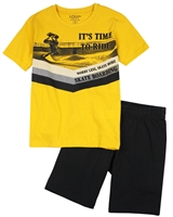Losan Junior Boys T-shirt with Skateboarder Print and Jersey Shorts