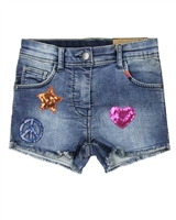 Losan Junior Girls Jogg Jeans Shorts with Badges