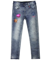 Losan Junior Girls Jogg Jeans with Badges