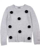 Losan Junior Girls Pullover with Pompoms