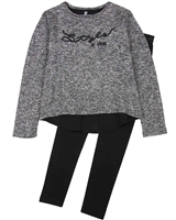 Losan Junior Girls Terry Top and Leggings Set