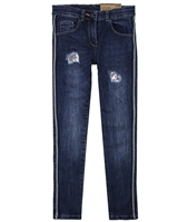 Losan Junior Girls Denim Pants with Side Stripes