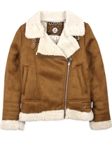 Losan Junior Girls Biker Style Faux Shearling  Jacket