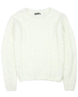 Losan Junior Girls Shaggy Cable Knit Pullover