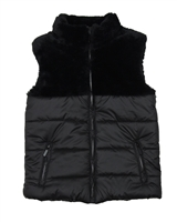Losan Junior Girls Puffer Vest with Faux Fur