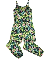 Losan Junior Girls Jumpsuit in Tropical Print