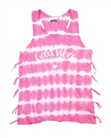Losan Junior Girls Striped Tank Top in Acid Wash