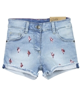 Losan Junior Girls Jogg Jeans Shorts with Flamingo