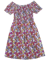 Losan Junior Girls Beach Dress in Small Floral Print