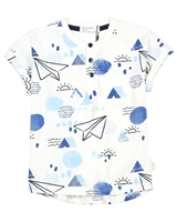 Miles Baby Boys Long Printed T-shirt