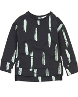 Miles Baby Boys Sweatshirt in Paint Brush Stroke Print
