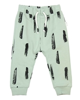 Miles Baby Boys Sweatpants in Paint Strokes Print Green