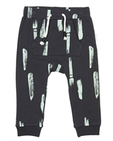 Miles Baby Boys Sweatpants in Paint Strokes Print Gray