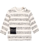 Miles Baby Boys Sweatshirt in Spotted Stripes