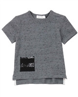 Miles Baby Boys Speckled T-shirt with Pocket