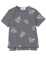 Miles Baby Boys T-shirt in Bicycles Print