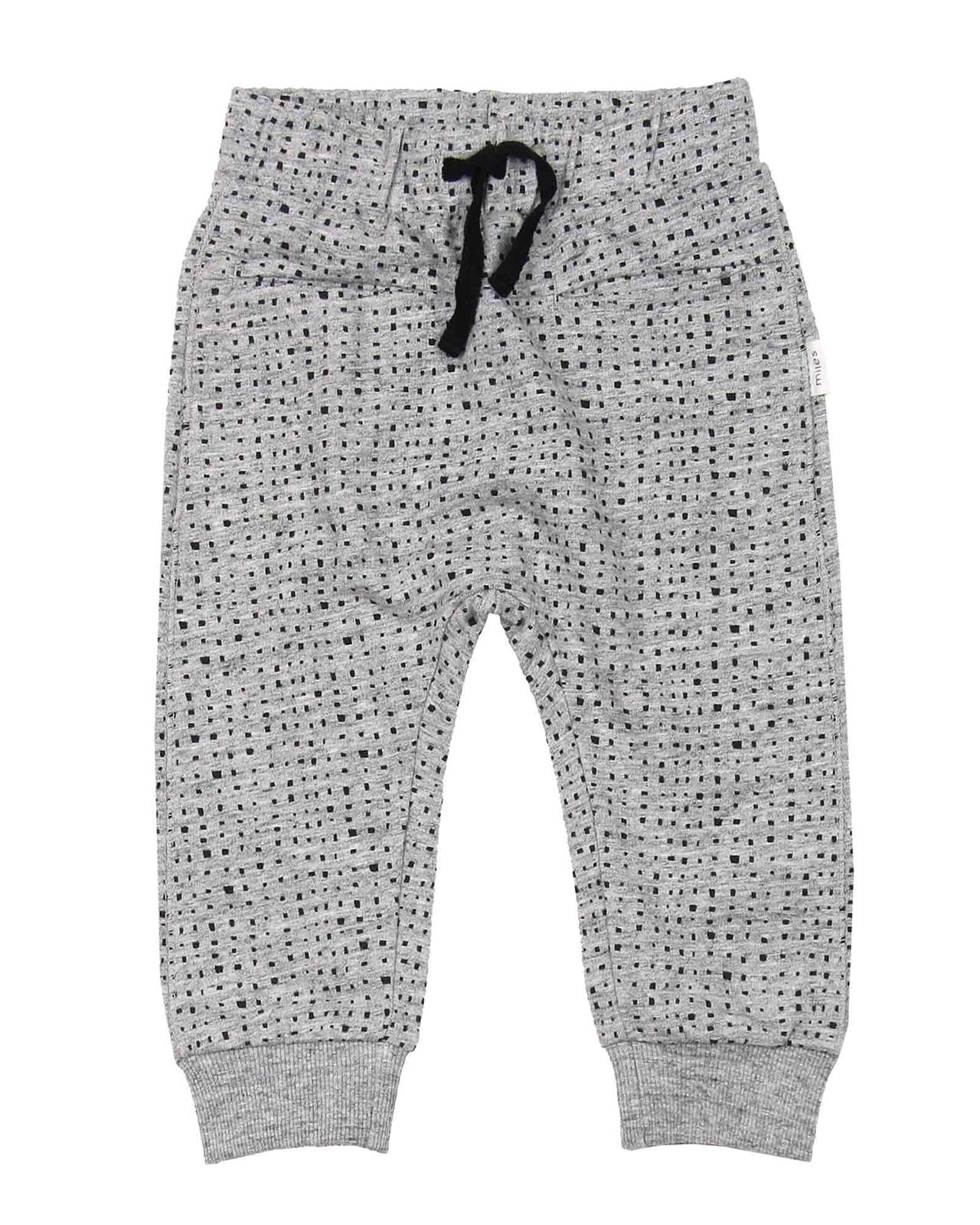 5b8b65bb Miles Baby Boys Sweatpants in Blocks Print - Miles Baby Spring ...