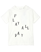 Miles Baby Boys T-shirt with Play Print in White