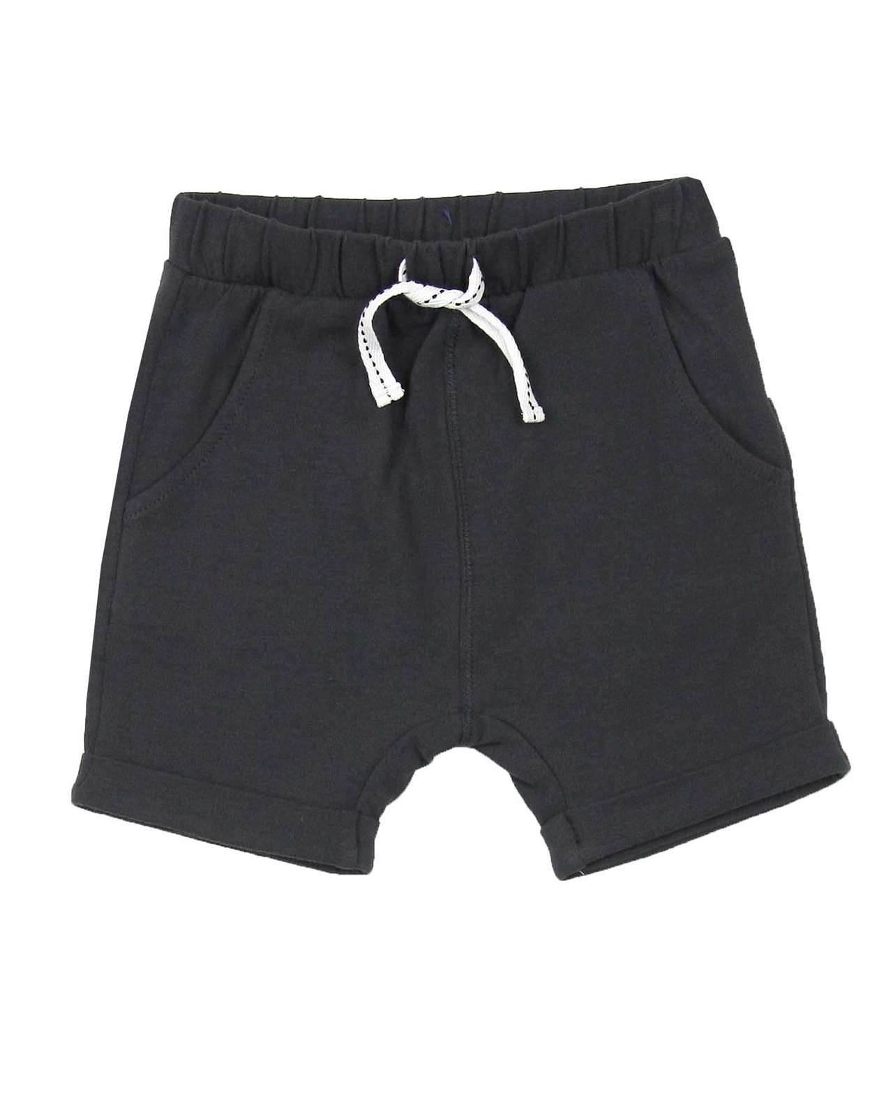 Miles Baby Boys Cuffed Jersey Shorts Sizes 6M-4