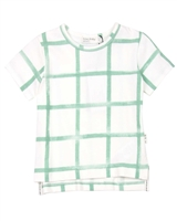 Miles Baby Boys Distressed Check T-shirt